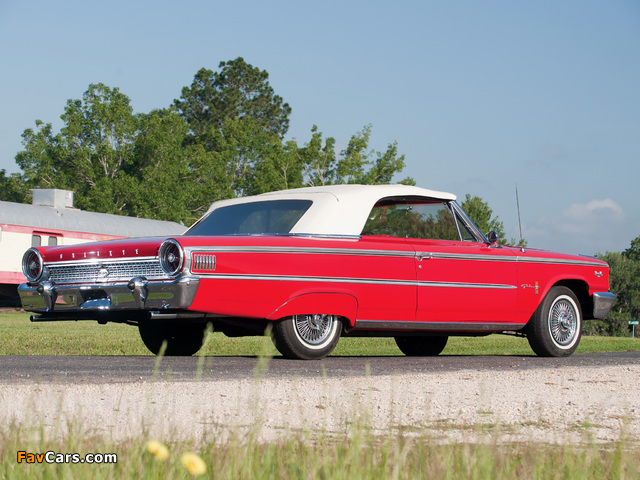 Ford Galaxie 500 XL Sunliner 1963 wallpapers (640x480)