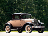 Ford Model A 5-window Coupe (45B) 1930–31 wallpapers