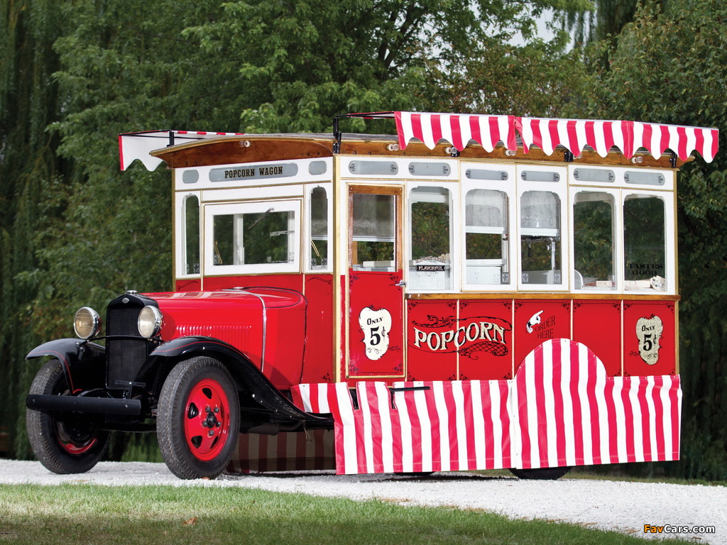Ford Model AA Popcorn Truck by Cretors 1930 pictures (1024 x 768)