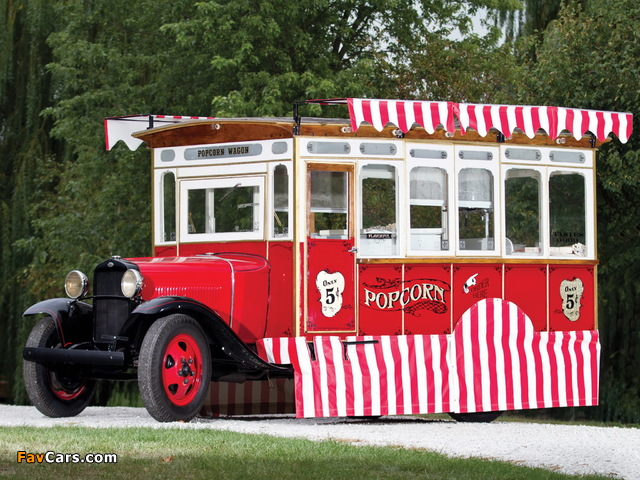 Ford Model AA Popcorn Truck by Cretors 1930 pictures (640 x 480)
