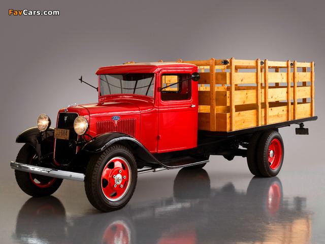 Ford Model BB Platform Truck 1934 wallpapers (640 x 480)
