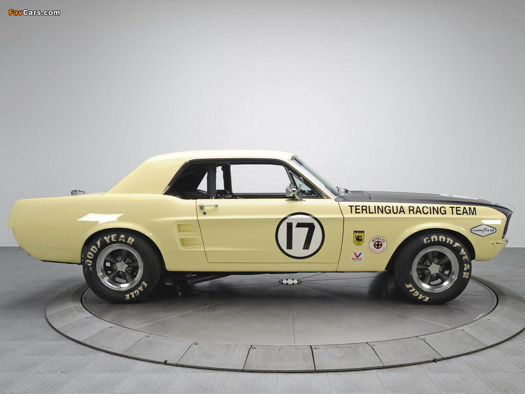 Mustang Coupe Race Car (65B) 1967 wallpapers (1024 x 768)
