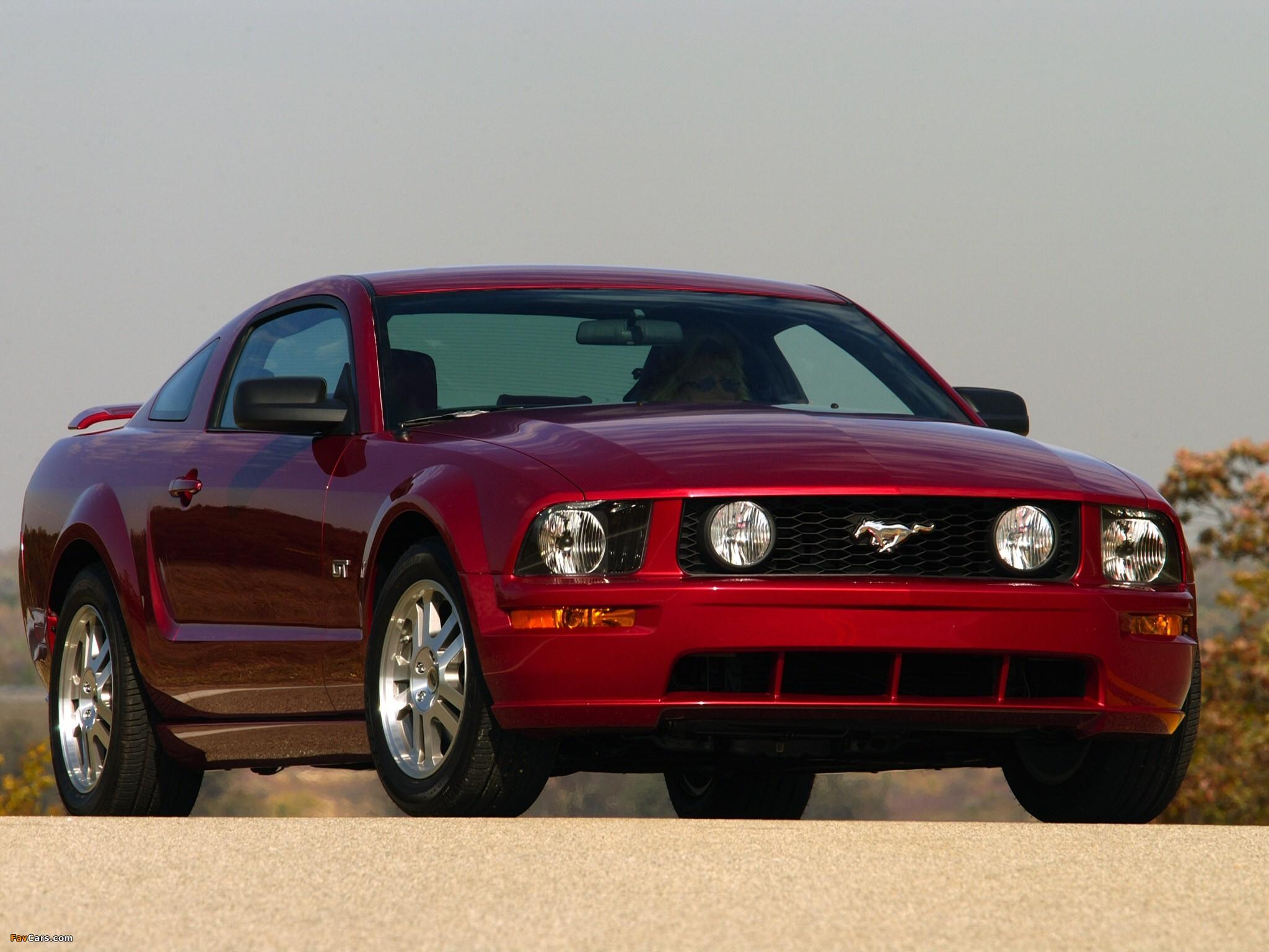 Red Wine Rack Mustang Gt 2005 08 Wallpapers 2048x1536