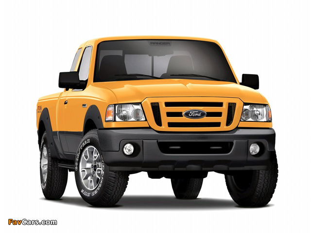 Pictures of Ford Ranger XLT FX4 Super Cab 2008–11 (640 x 480)
