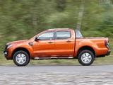 Ford Ranger Wildtrak UK-spec 2012 images