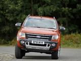Pictures of Ford Ranger Wildtrak UK-spec 2012