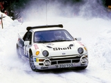 Pictures of Ford RS200 Group B Rally Car