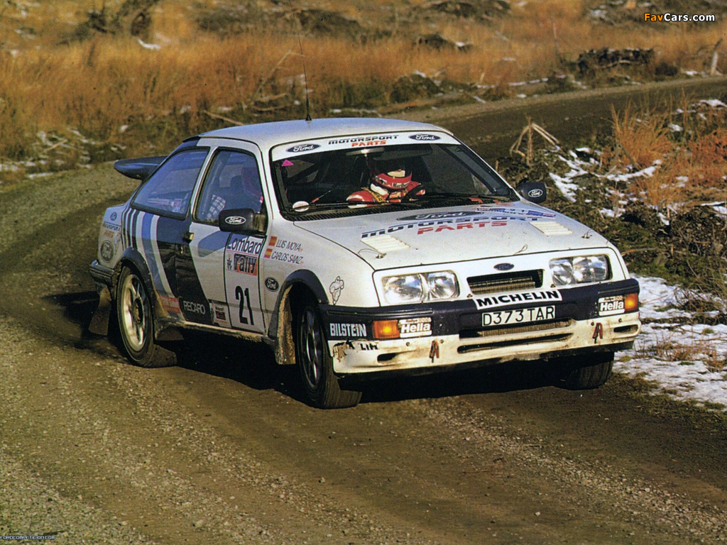 Ford Sierra RS Cosworth Group A Rally Car 1987–89 images (1024 x 768)