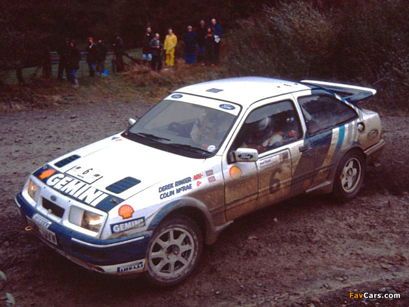Ford Sierra RS Cosworth Group A Rally Car 1987–89 photos (800 x 600)
