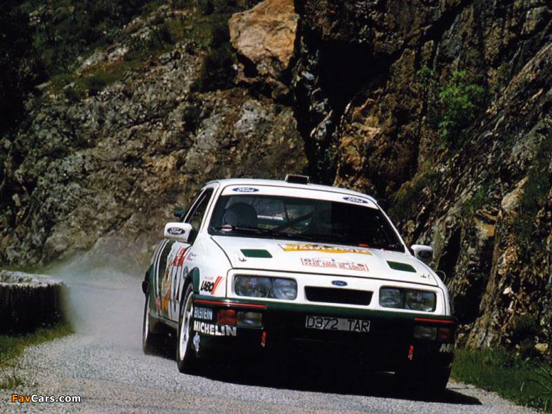 Ford Sierra RS Cosworth Group A Rally Car 1987–89 wallpapers (800 x 600)