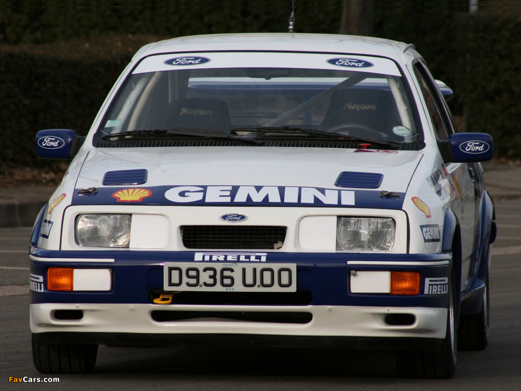 Photos of Ford Sierra RS Cosworth Group A Rally Car 1987–89 (1024 x 768)