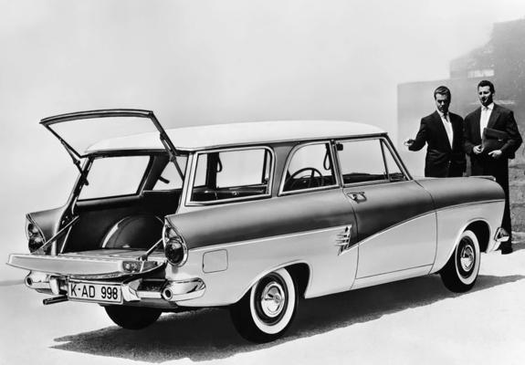 pictures of ford taunus 17m kombi p2 1957 60. Black Bedroom Furniture Sets. Home Design Ideas