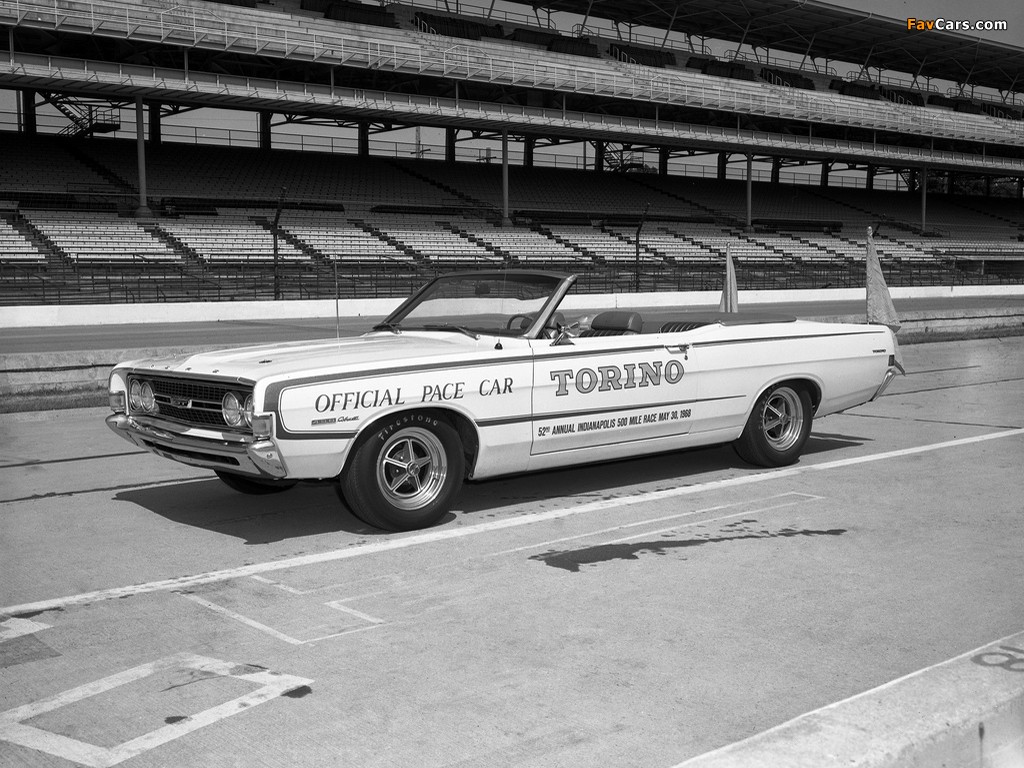 Pictures of Ford Torino GT Convertible Indy 500 Pace Car 1968 (1024x768)
