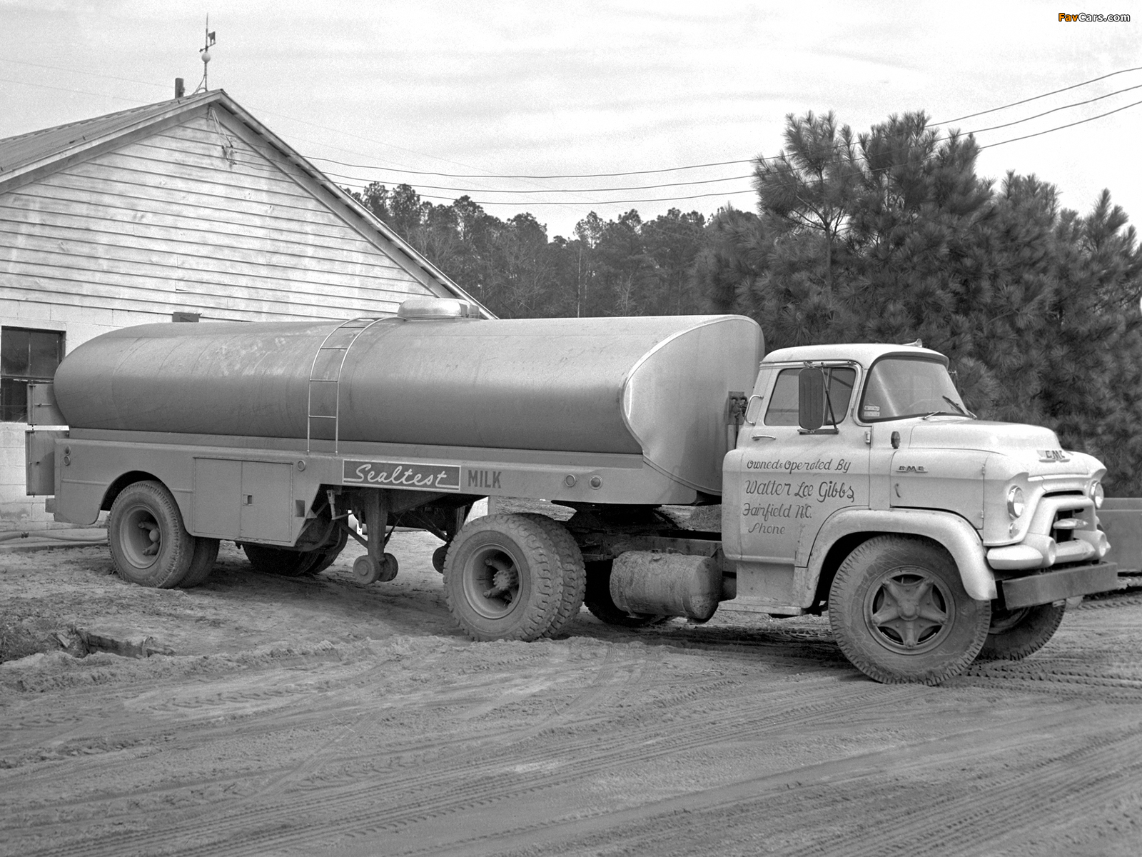 Photos of 1955–59 GMC F370 COE Tractor Truck (1600 x 1200)