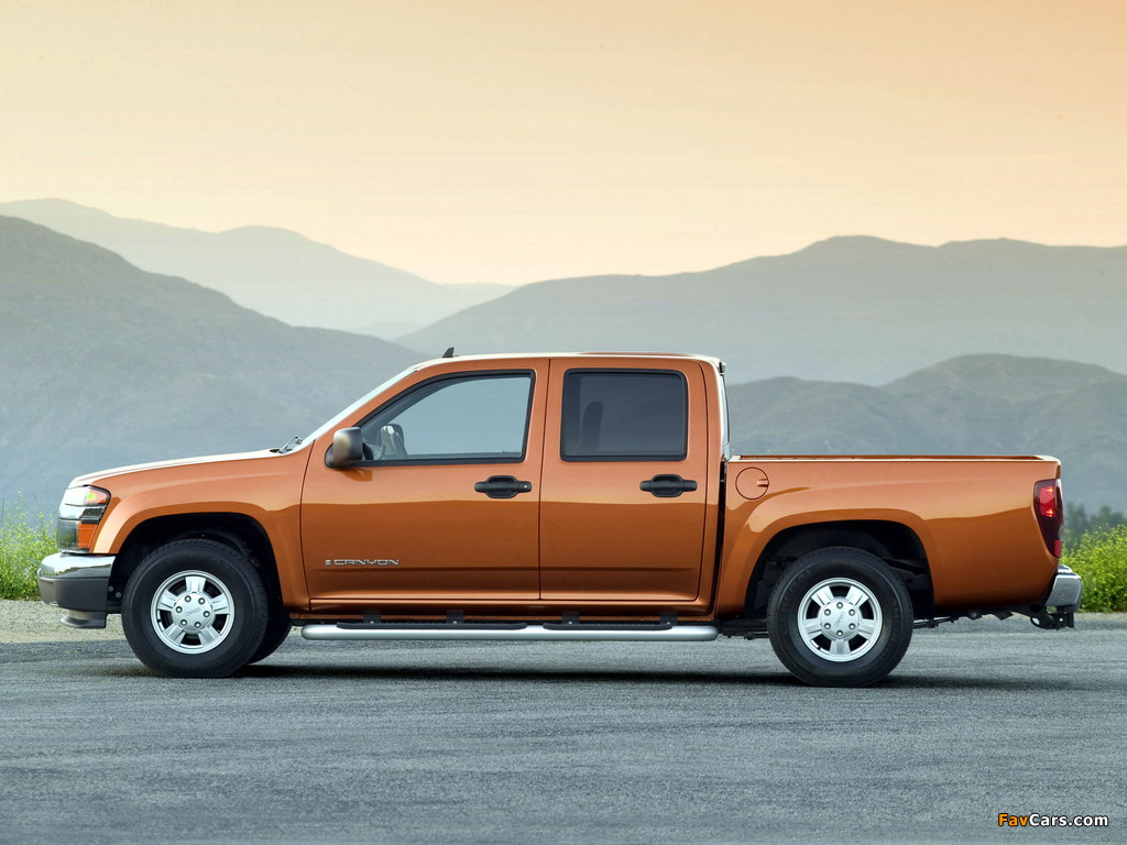 GMC Canyon Crew Cab 2003–12 pictures (1024 x 768)