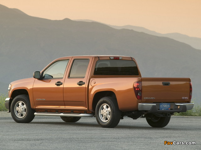 GMC Canyon Crew Cab 2003–12 pictures (640 x 480)