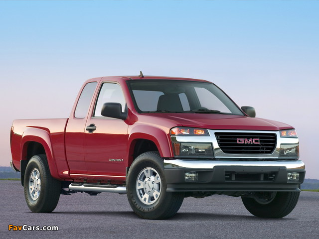GMC Canyon Extended Cab 2003–12 wallpapers (640 x 480)