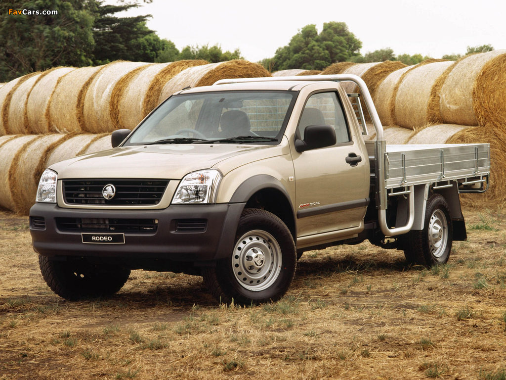 Holden Rodeo Single Chassis Cab 2003–06 wallpapers (1024 x 768)