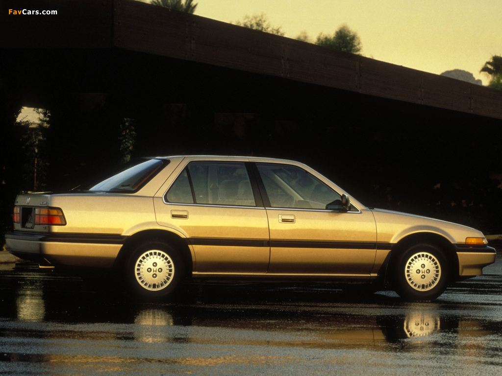 Honda Accord Sedan US-spec (CA) 1986–89 photos (1024 x 768)
