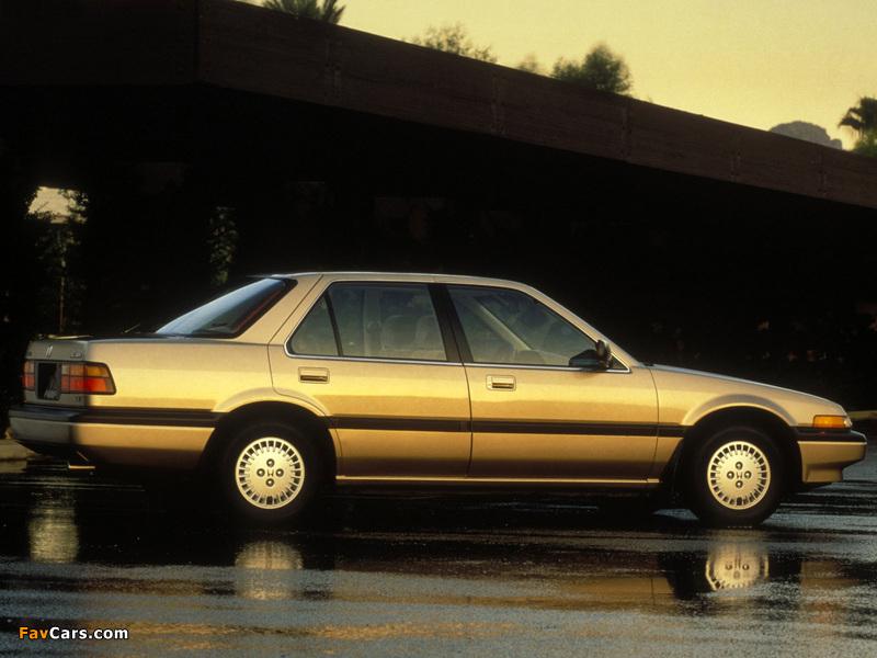 Honda Accord Sedan US-spec (CA) 1986–89 photos (800 x 600)