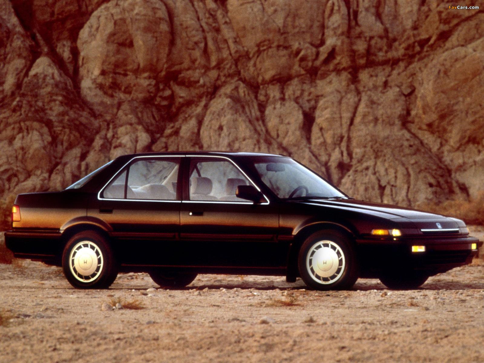 Honda Accord Sedan US-spec (CA) 1986–89 pictures (1600 x 1200)