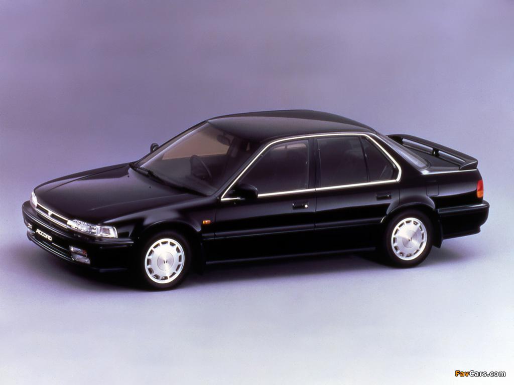 Honda Accord Sedan (CB) 1990–93 photos (1024 x 768)