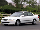 Images of Honda Accord Sedan US-spec 1998–2002