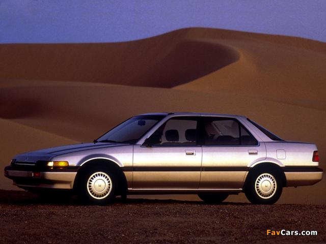 Photos of Honda Accord Sedan US-spec (CA) 1986–89 (640 x 480)