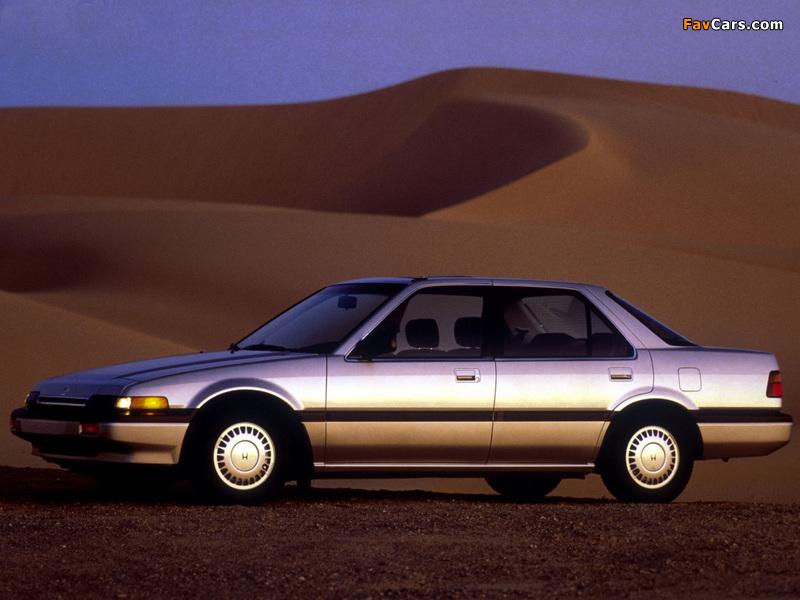 Photos of Honda Accord Sedan US-spec (CA) 1986–89 (800 x 600)