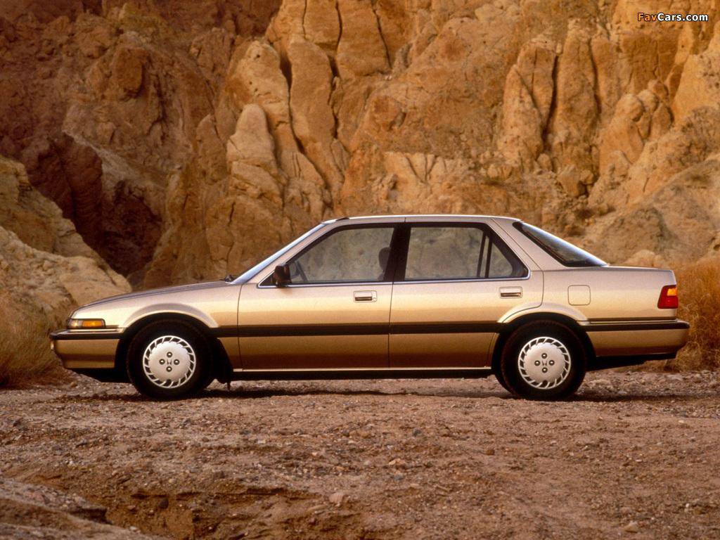 Pictures of Honda Accord Sedan US-spec (CA) 1986–89 (1024 x 768)