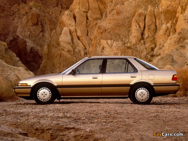 Pictures of Honda Accord Sedan US-spec (CA) 1986–89 (640 x 480)