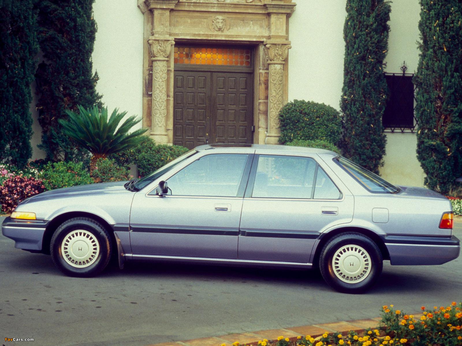 Honda Accord Sedan US-spec (CA) 1986–89 wallpapers (1600 x 1200)