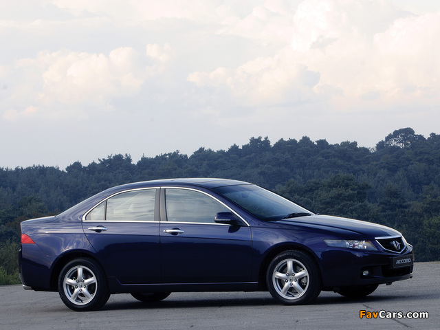 Honda accord sedan uk spec cl 2003 06 wallpapers 640x480 for 06 honda accord coupe