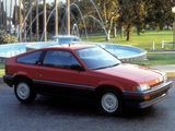Pictures of Honda Civic CRX 1986–87