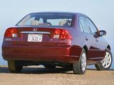 Honda Civic Sedan US-spec 2001–03 images