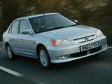 Honda Civic Sedan UK-spec 2001–03 photos