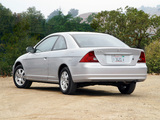 Honda Civic Coupe US-spec 2001–03 pictures