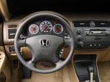 Honda Civic Sedan US-spec 2001–03 pictures