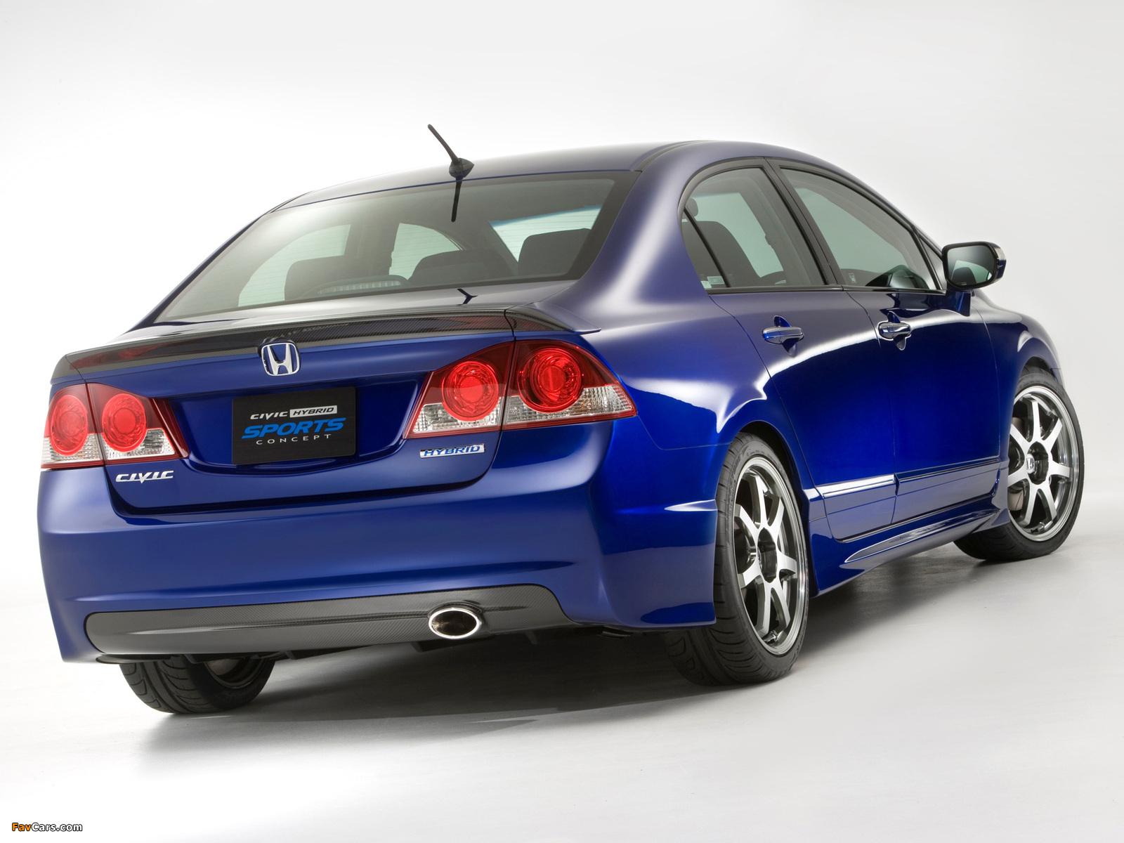 Honda Sports Car >> Honda Civic Hybrid Sports Concept 2006 wallpapers (1600x1200)