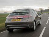 Honda Civic Hatchback UK-spec (FN) 2010–11 wallpapers