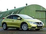 Honda Civic Hatchback UK-spec 2011 images
