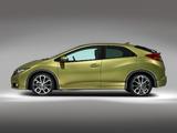 Honda Civic Hatchback UK-spec 2011 wallpapers