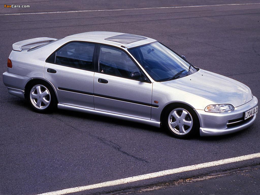 Honda Civic 1 >> Images of Honda Civic VTi Sedan UK-spec (EG8) 1991–95 (1024x768)