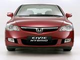 Photos of Honda Civic Hybrid (FD3) 2006–08