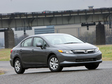 Photos of Honda Civic Sedan US-spec 2011
