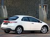 Pictures of Honda Civic Hatchback ZA-spec (FN) 2008–10