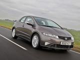Pictures of Honda Civic Hatchback UK-spec (FN) 2010–11