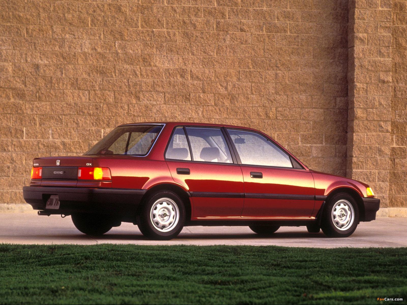 Honda civic sedan us spec ef 1988 91 wallpapers 1600x1200 for Honda civic 1988