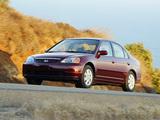 Honda Civic Sedan US-spec 2001–03 wallpapers