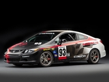 Honda Civic Si Coupe Racecar Compass 360 Racing by HPD 2011 wallpapers